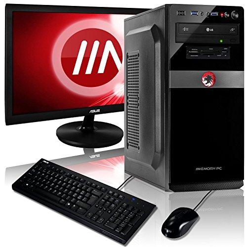 Memory PC Komplett-PC A8-9600 4X 3.4 GHz, 8 GB DDR4, 240 GB SSD + 1000 GB, Radeon R7 2GB, ASUS 22