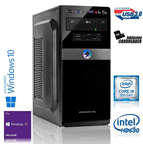 Memory PC Intel i9-9900K 8X 3.6 GHz, ASUS, 32 GB DDR4, 500 GB SSD Samsung 970 EVO M.2 NVMe + 2000 GB HDD, Intel UHD Graphics 630, Windows 10 Pro 64bit