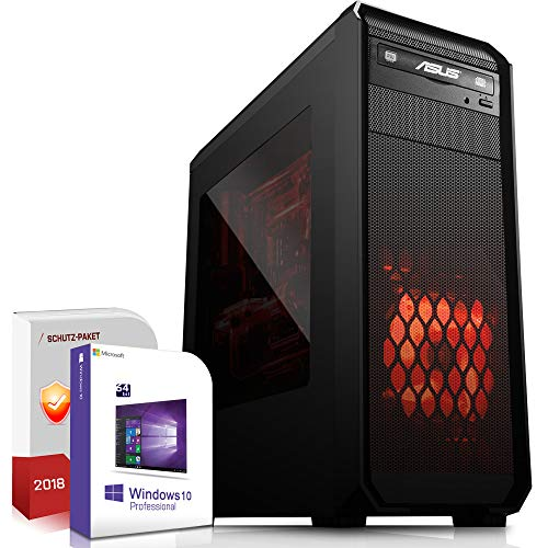 Gaming PC AMD Ryzen 5 3600 6x3.6GHz |ASUS Board|16GB DDR4|256GB SSD|Nvidia GTX 1050Ti 4GB 4K HDMI|DVD-RW|USB 3.1|SATA3|Windows 10 Pro|3 Jahre Garantie